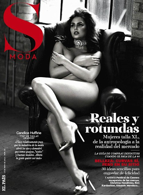 Candace Huffine nude for S Moda Magazine cover